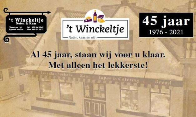 Jubileum : Al 45 jaar 't Winckeltje in Egmond aan Zee